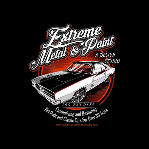 Extreme metal & paint dodge charger
