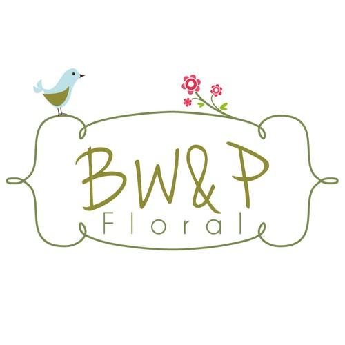 可爱的鸟 - 花店标志