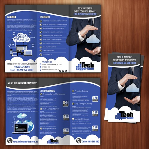Brochure concept for Tech supportive