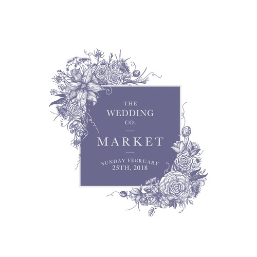 Invitation design for The Wedding Co. Market