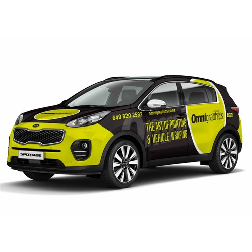 Kia Sportage Wrapping Design for Omnigraphics