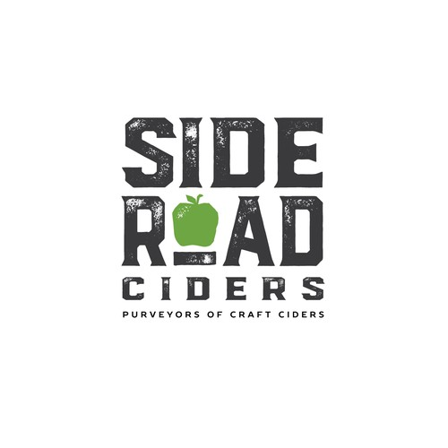 Craft brew style logo for Side Road Ciders