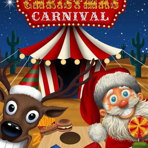 Christmas carnival flyer design
