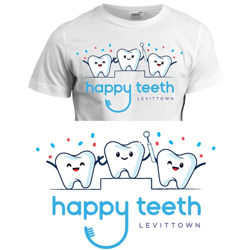 T-Shirt Design for Happy Teeth Pediatric Dentistry