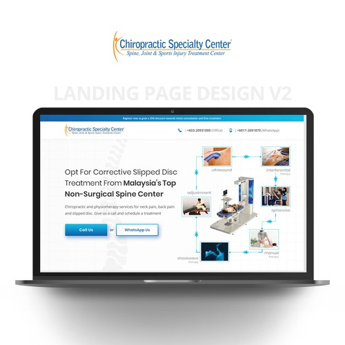 Landing Page Design - Chiropractic Specialty Center