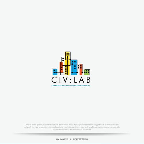 modern flat logo for civ lab