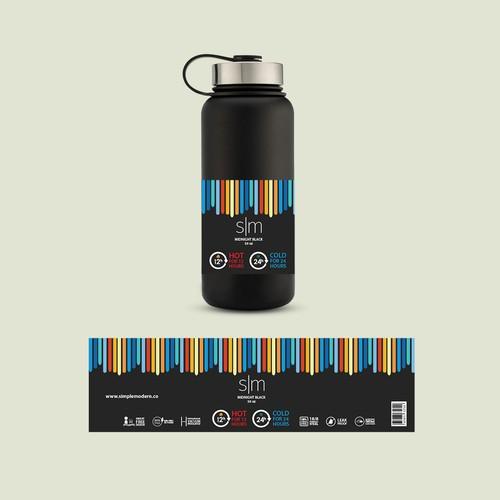 label design for vacuum insulated bottle.