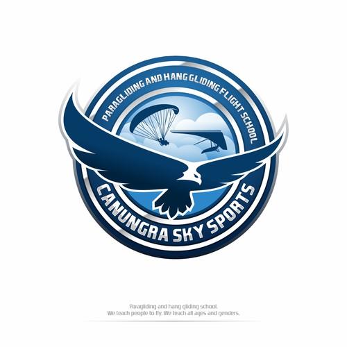 Canungra Logo Designs for Sky Sports Paragliding & Hang gliding
