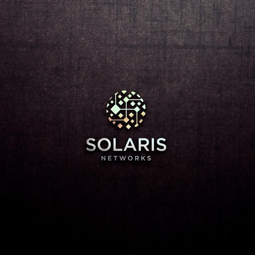 Minimalist IT company with a Sun theme