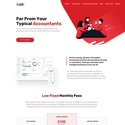 Modern accountants website