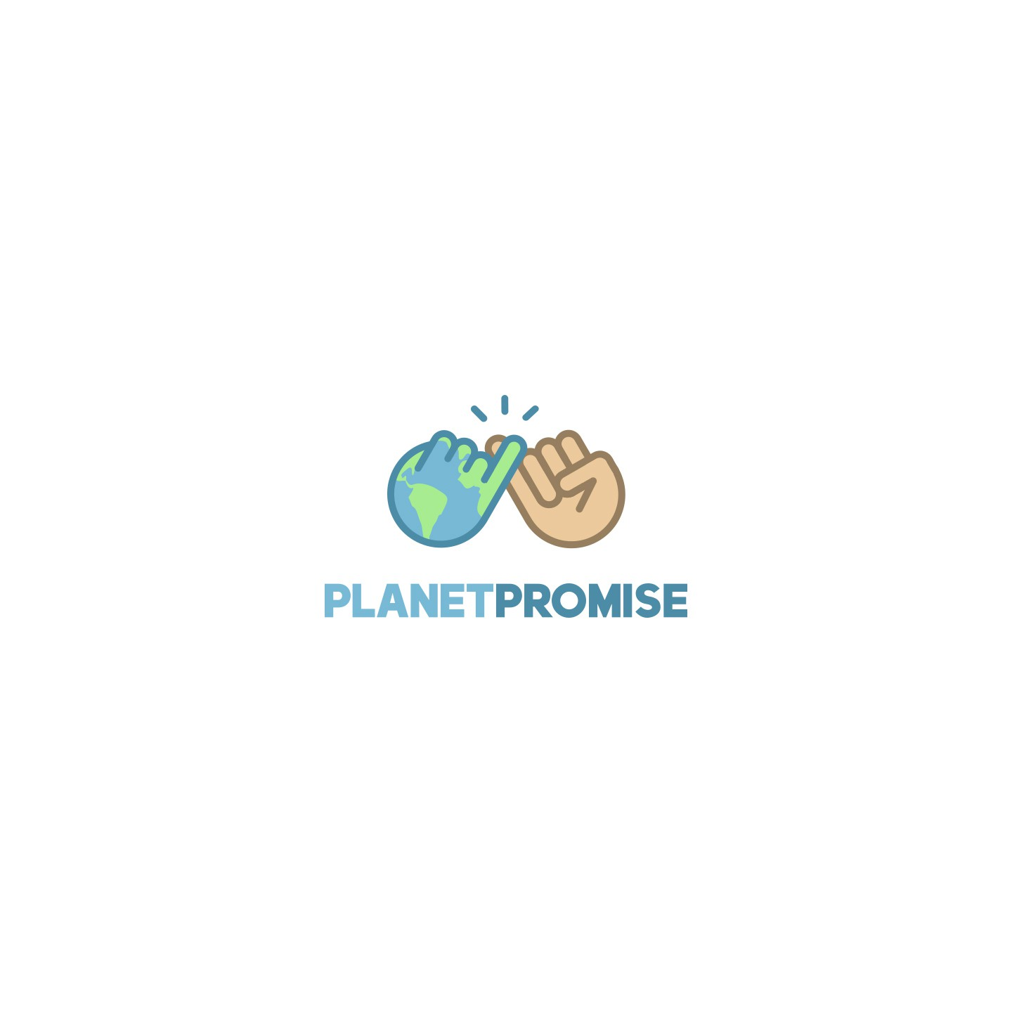 Planet Promise - logo design to inspire others to take action on climate change
