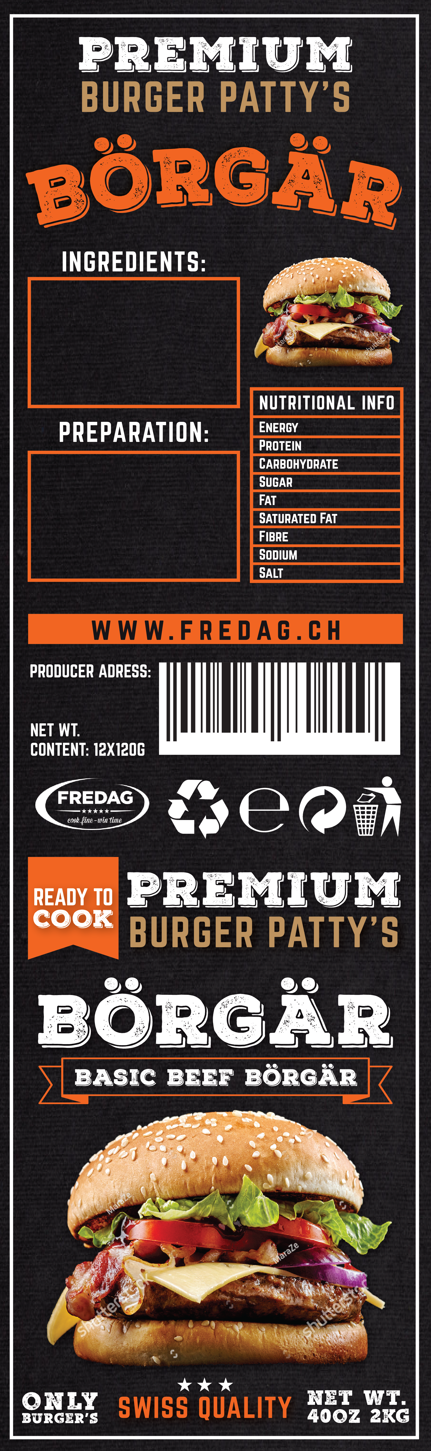 NEW Burger Patty Packaging - Food Service