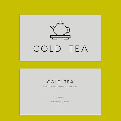 Business card   Cold tea, bar