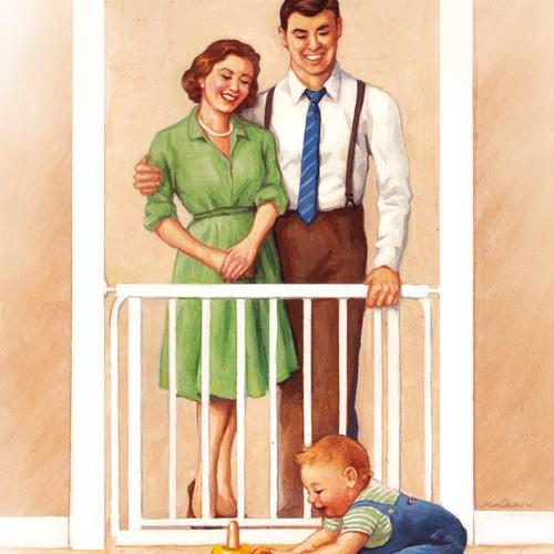 Illustration for Baby goods retailer.