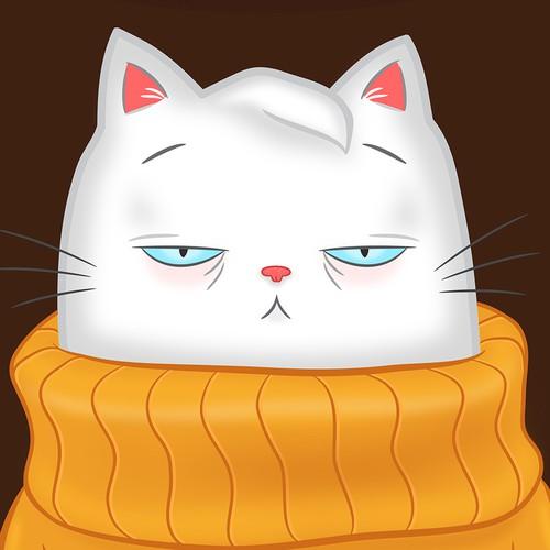 Post Box Sox Cat