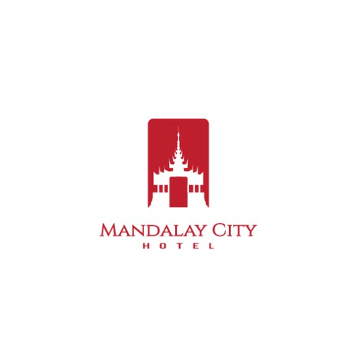 Logo for famous Mandalay City Hotel, Myanmar
