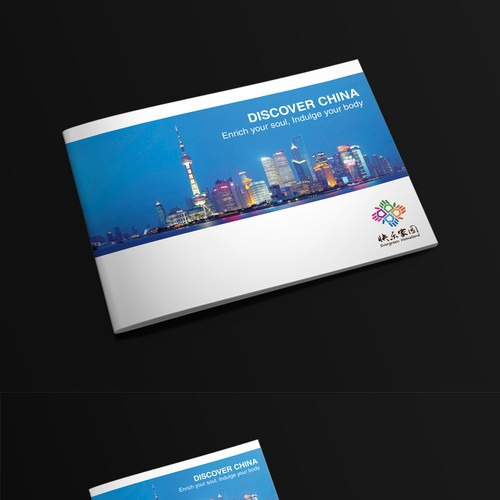 Create a brochure for a 5-star senior travel package to China with a focus on culture and wellbeing