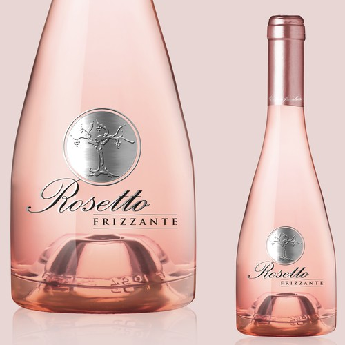 Wine label design for Rosetto Wine