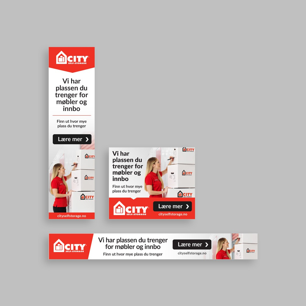 Banner ads for City Self Storage