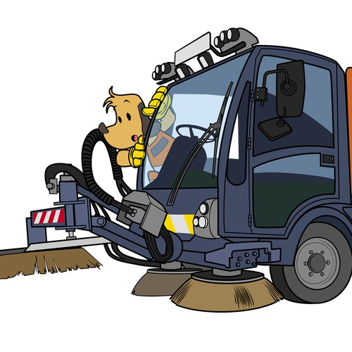 Cleaning Services Mascot