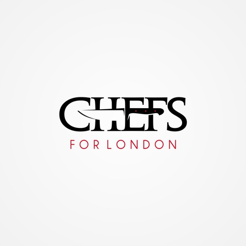 Logo for a company that hire chefs for London jobs.