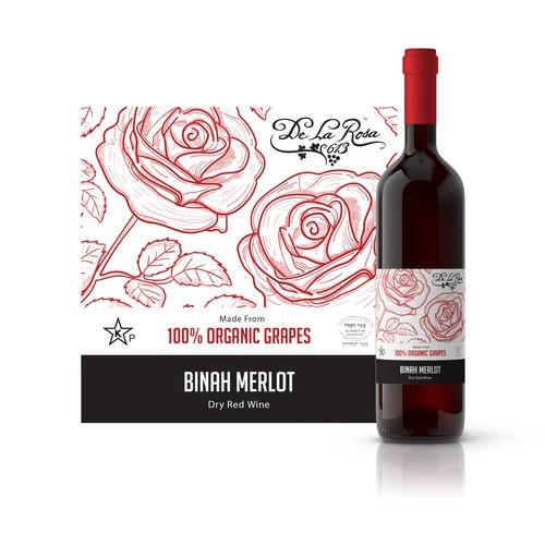 Wine Label Design for De La Rosa