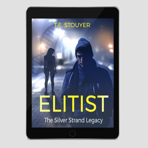 ebook cover for an action thriller fiction novel