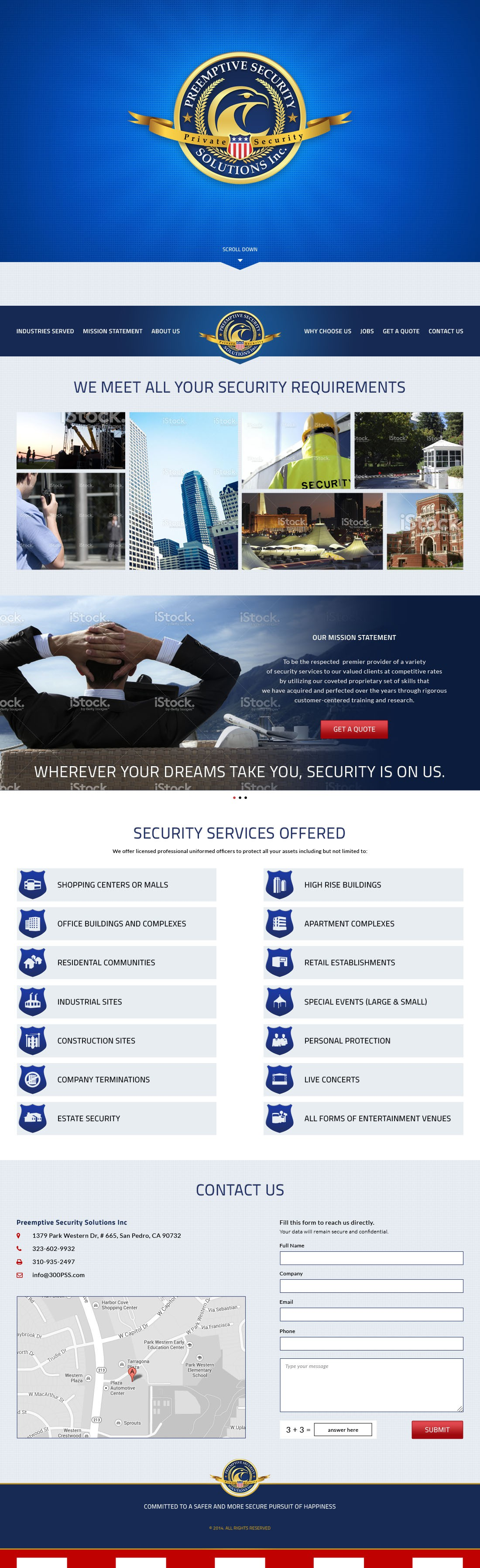 Creative Website for a Security company in California