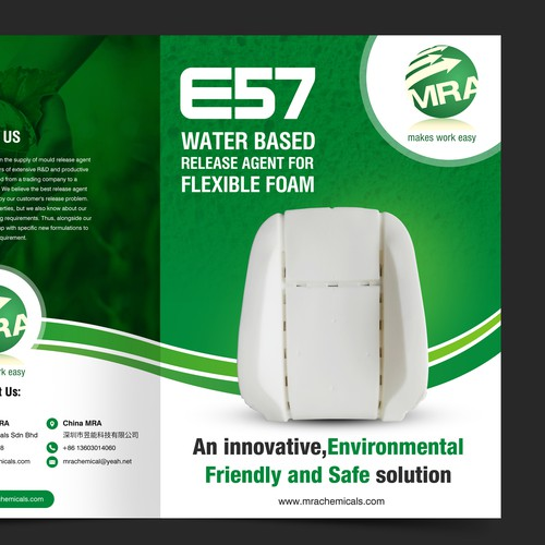 Brochure for an environmentally friendly chemical product