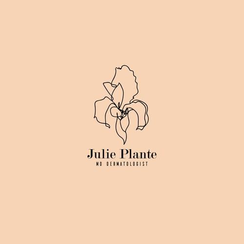 """Logo concept for """"Julie Plante, MD Dermatologist""""."""