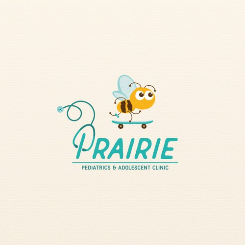 Playful logo concept for paediatric clinic