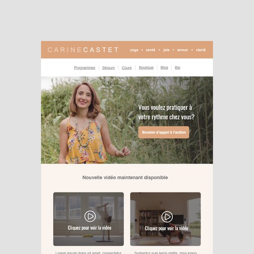 Email Template for Yoga Instructor