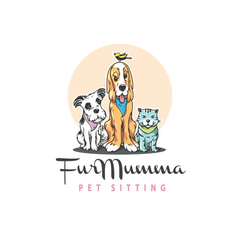 illustrative logo concept forFur Mumma