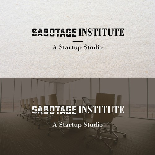 Clean typographic logo for a startup studio
