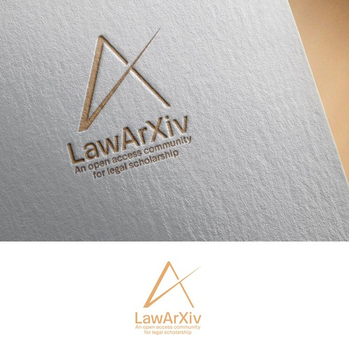 Winning logo of LawArXiv