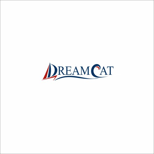 logo  for  catamaran sail boat