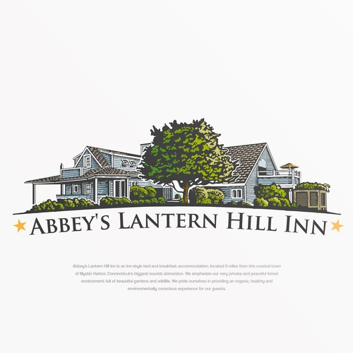 Logo desing for Abbey's Lantern Hill Inn