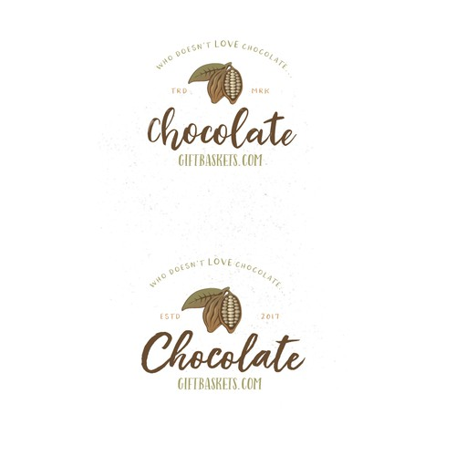 Logo for a chocolate gift baskets