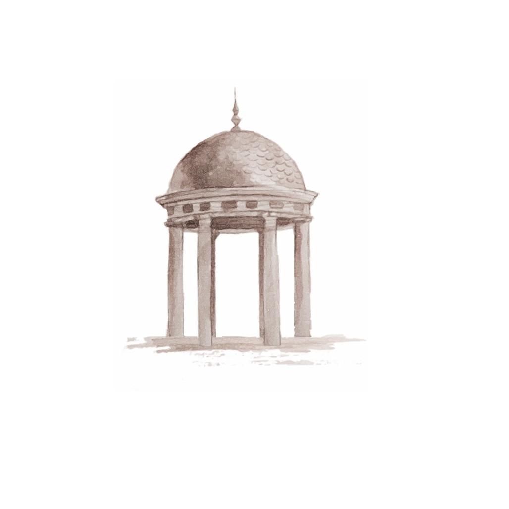 Simple Rotunda Illustration for a Wedding Invitation