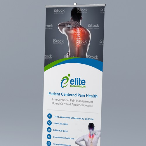 Modern neck & back pain banner layout