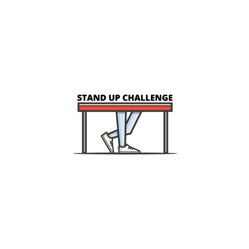 Stand up challenge logo concept