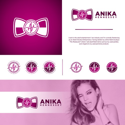 Unique logo concept for Anika Hennessey