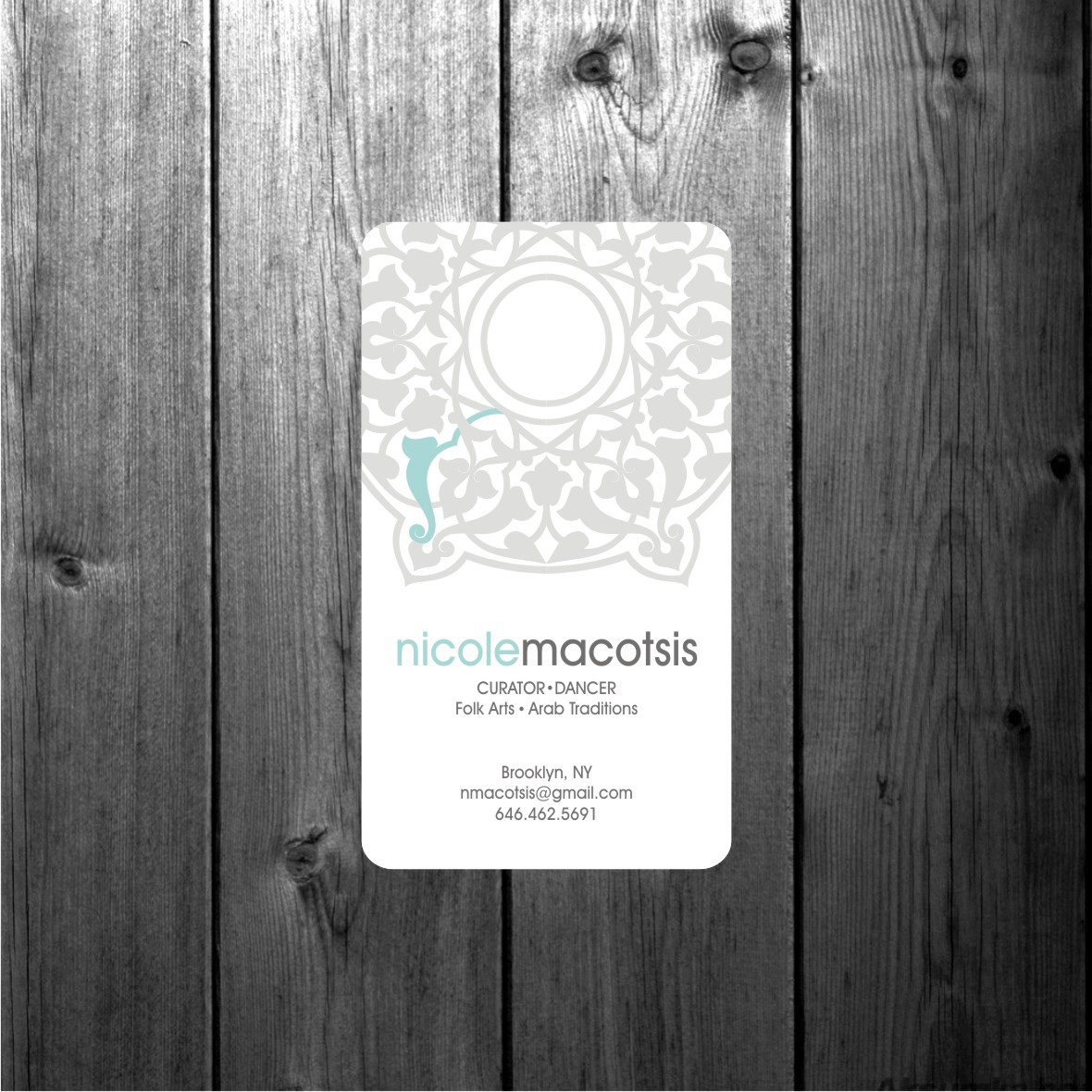 Create Business Card for Traditional Arts Programmer - Arab Arts & Dance