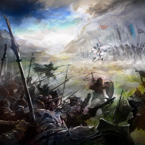 Epic Fantasy Novel Cover Illustration