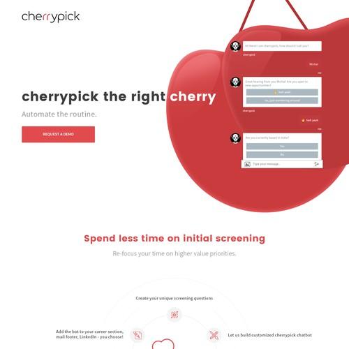 cherrypick landing page