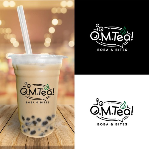 Fun logo for O.M.Tea!