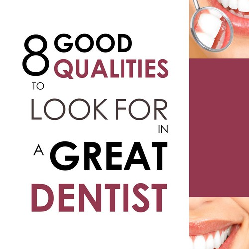 eBook cover for a guide to a great dentist