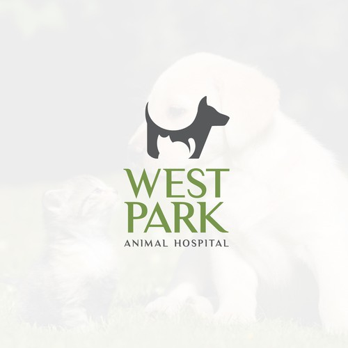 Simple Iconic Animal Hospital Logo