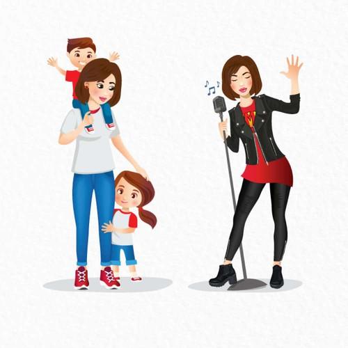 Super mom avatars