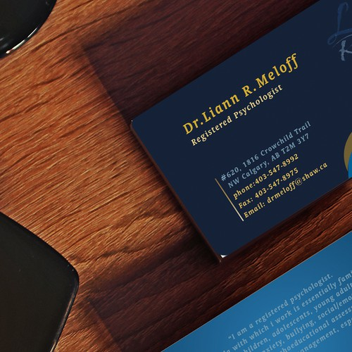 professional psychologist business card